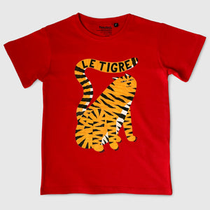 Le Tigre Kid's T-shirt Red