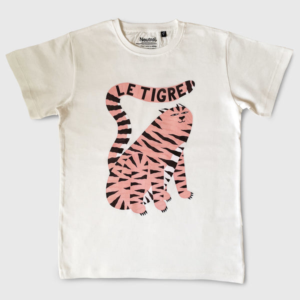 Le Tigre Kid's T-shirt Nature White