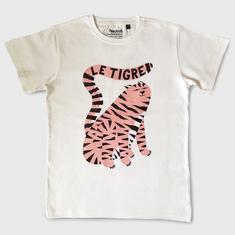 Le Tigre Kid's T-shirt Nature - White