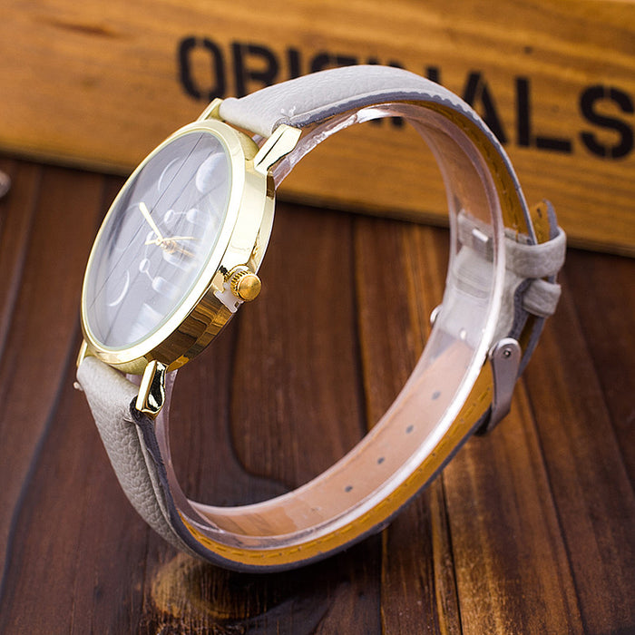 Moon Phases Quartz Watch-Watches-Qponer