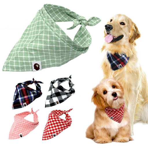 5pcs Dog Bandana Set-Pet Supplies-Qponer