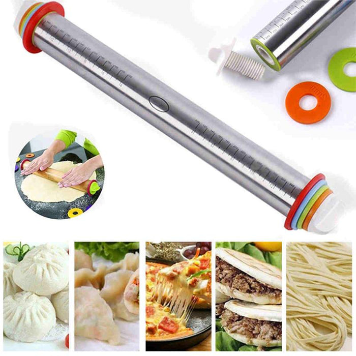 Stainless Steel Adjustable Rolling Pin-Kitchen Utensils-Qponer