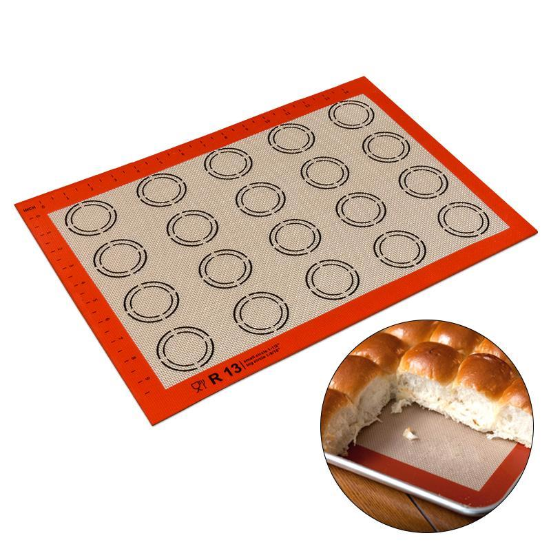 Non-Stick Silicone Baking Mat with Pattern-Baking Utensils-Qponer