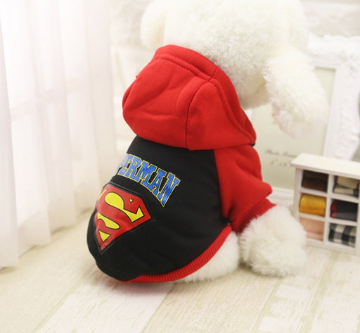 """Superman"" Dog Hoodie-Pet Supplies-Qponer"