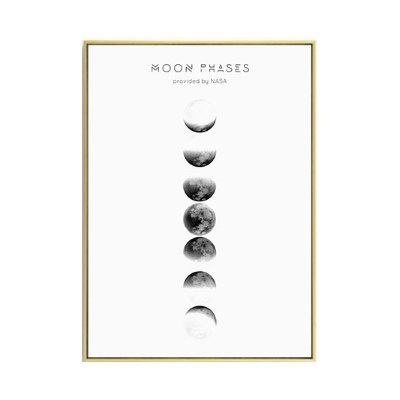 Moon Phases Poster I-Wall Art-Qponer