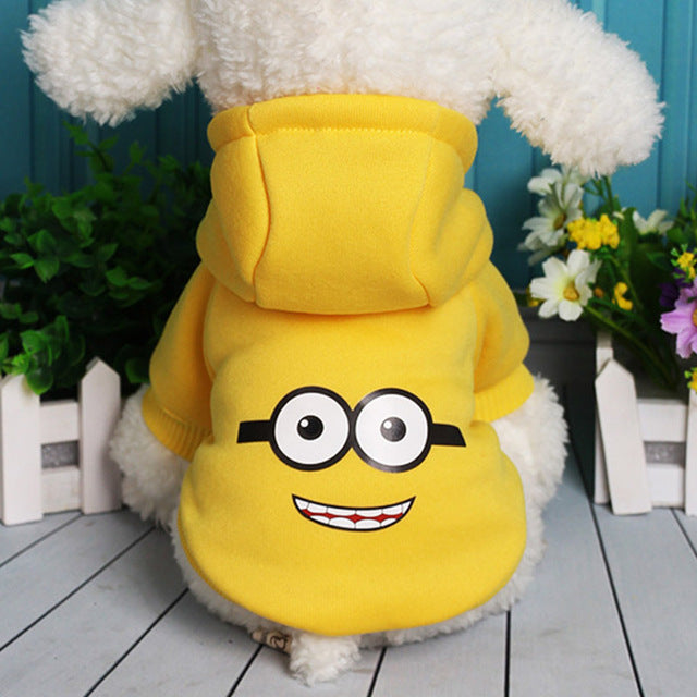 """Minion"" Dog Hoodie-Pet Supplies-Qponer"