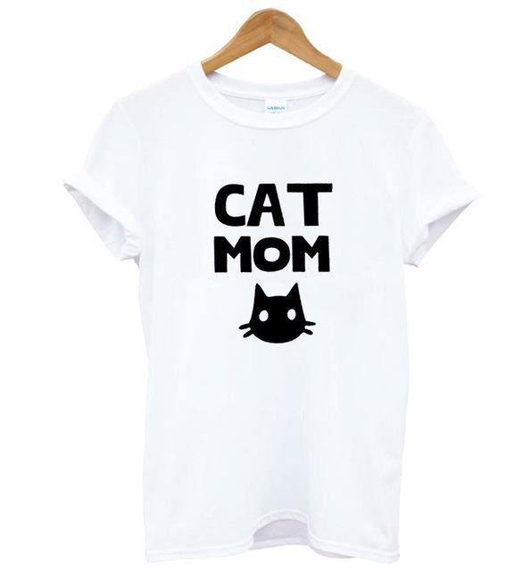 Cat Mom Women's T-Shirt-T-Shirts-Qponer