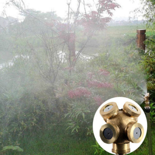4 Hole Brass Misting Sprinkler-Garden Supplies-Qponer