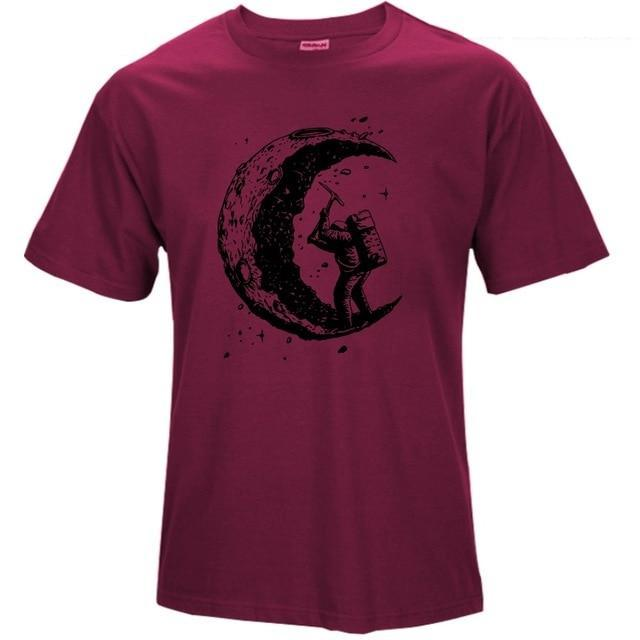 Mining the Moon T-Shirt-T-Shirts-Qponer