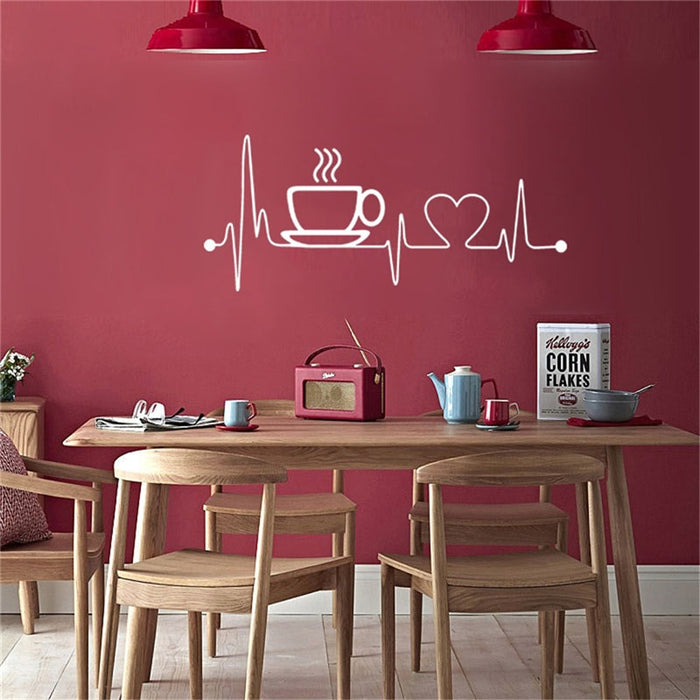 Coffee Pulse Wall Sticker