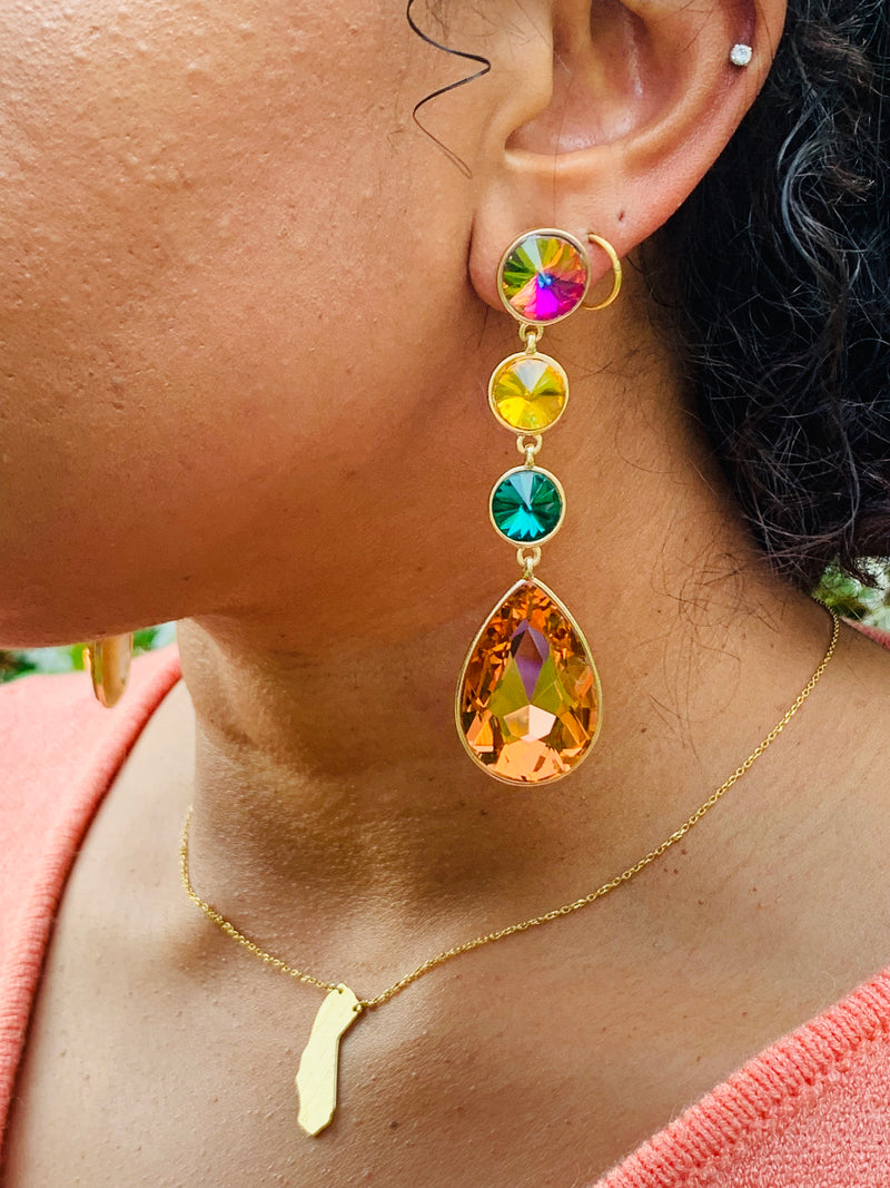 Jeweled Out Earrings - Lavish Accessories & Shoe House