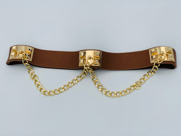 All Chained Up Belt - Lavish Accessories & Shoe House