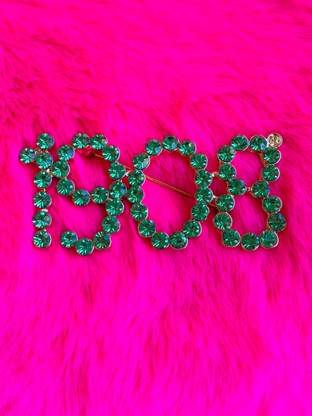 AKA 1908 Pin - Green - Lavish Accessories & Shoe House
