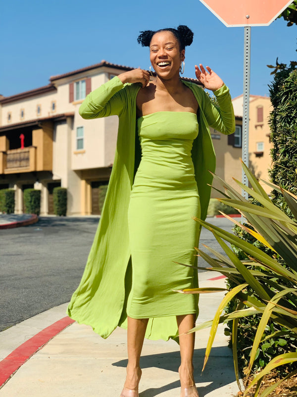 Nikki Set - Green - Lavish Accessories & Shoe House