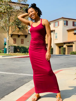 Come With Me Maxi Dress - Burgundy - Lavish Accessories & Shoe House