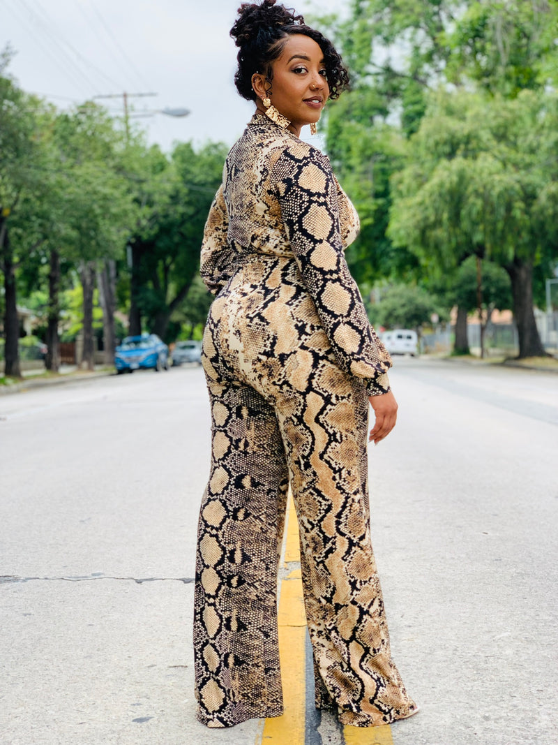 Wrapped In Snakeskin Jumpsuit - Lavish Accessories & Shoe House
