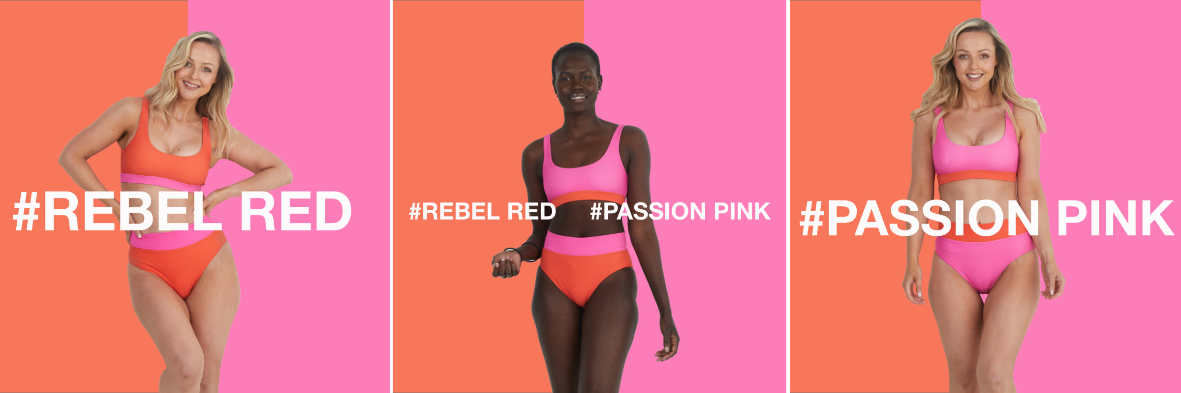 new infamous swim - rebel red and passion pink
