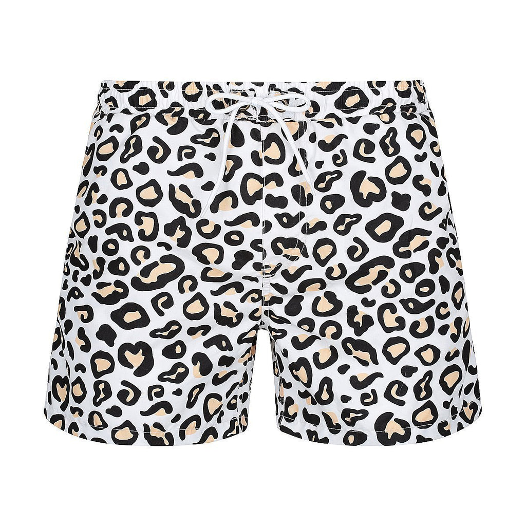 MENS HANK BOARDIES // Safari Leopard