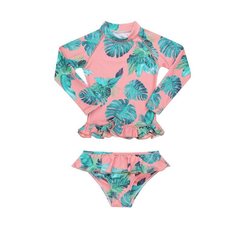 MINI ME ANNIE Rashie Set UPF50+ with Bottoms // Sunset Tropical