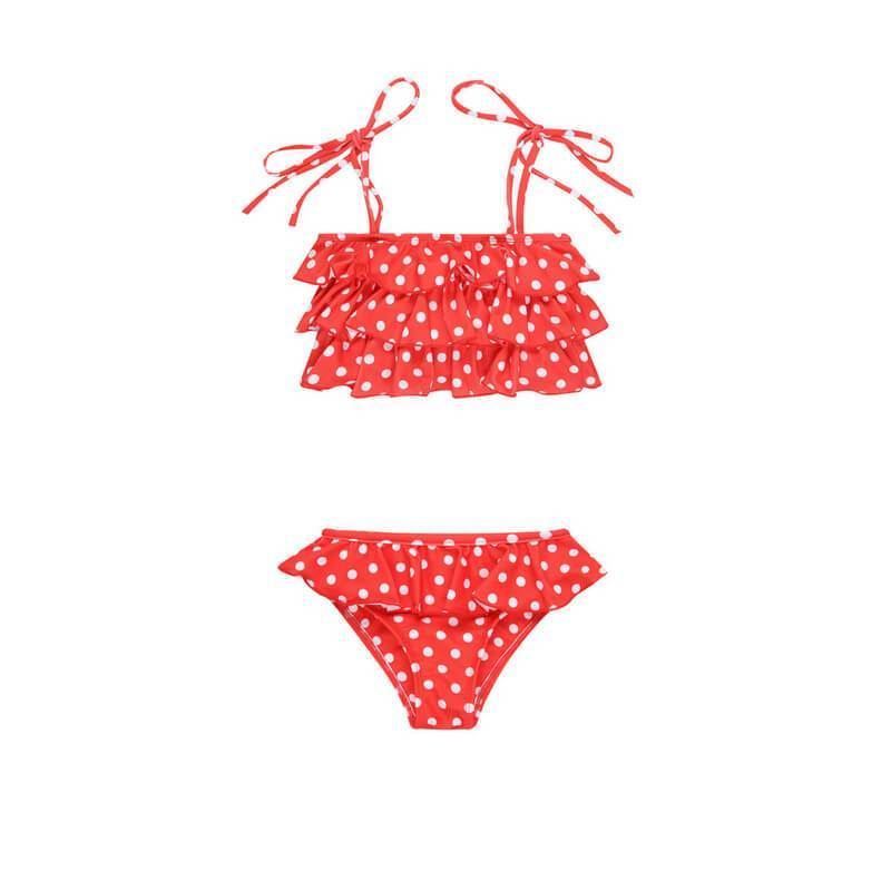 POPPY Set // Red Polka Dot