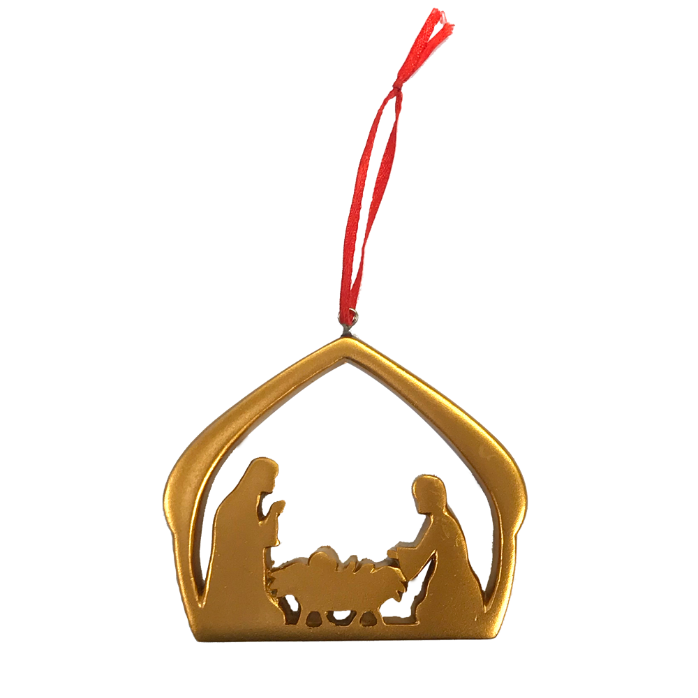 Holy Family Gold Ornament
