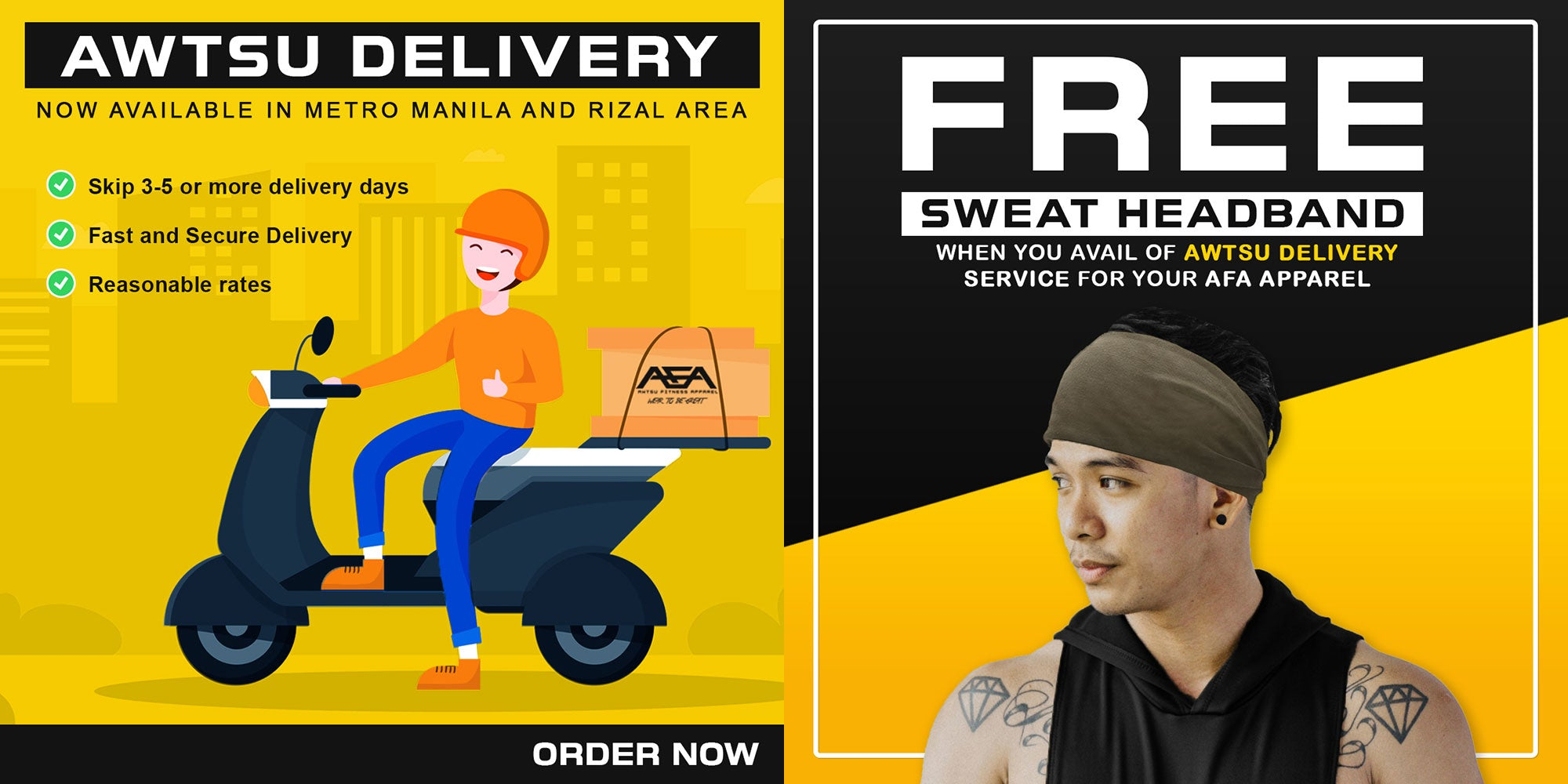 Awtsu Fitness Apparel Express Delivery, Cash on Delivery, Free Sweat Headband