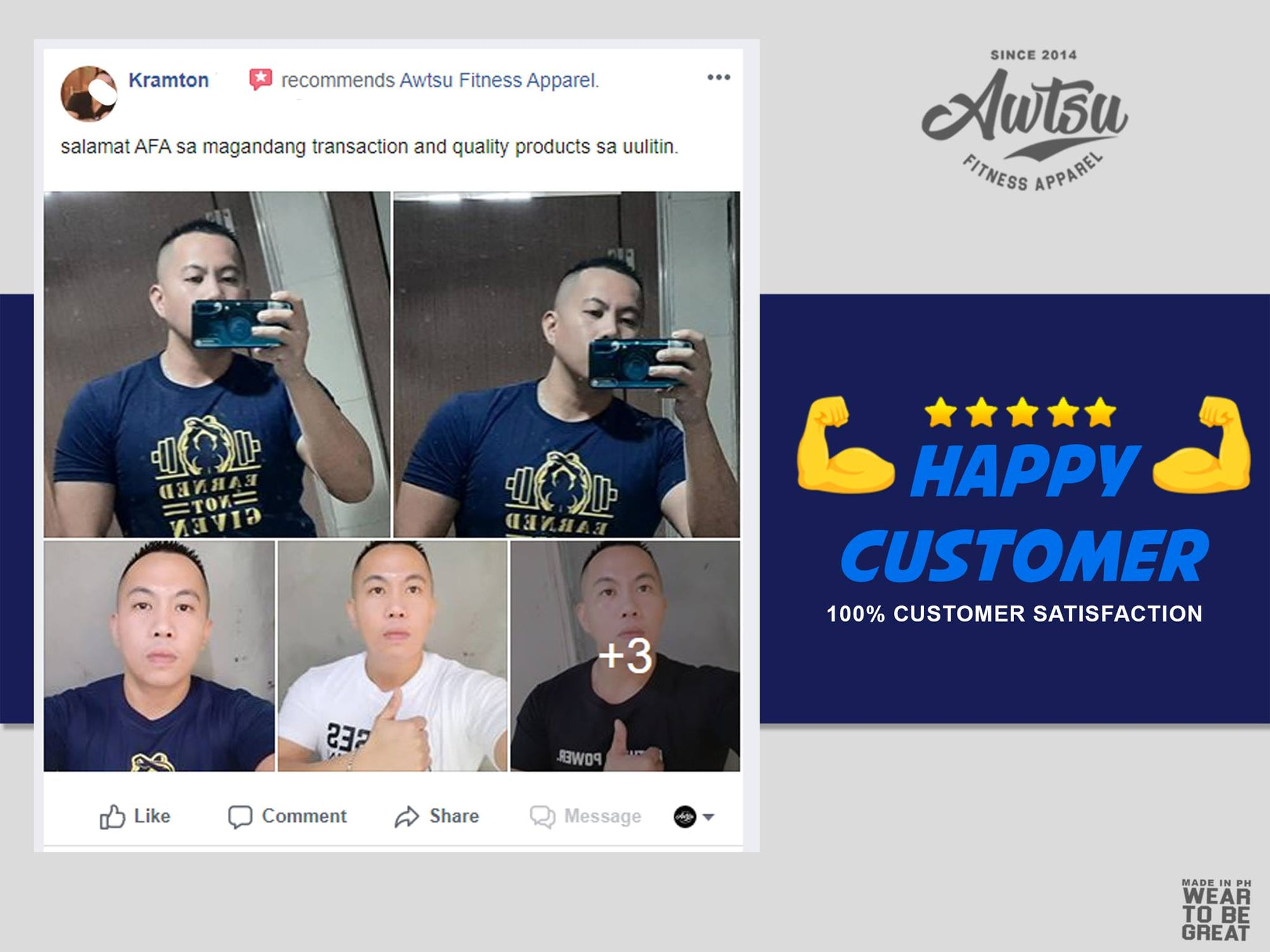 Krampton 5 Star Review of Awtsu Fitness Apparel