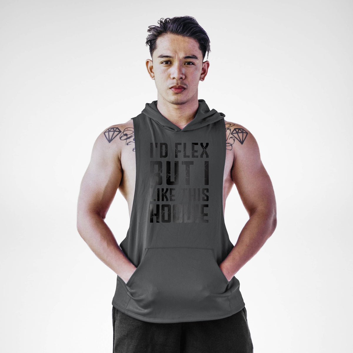 I'd Flex But I Love This Sleeveless Hoodie