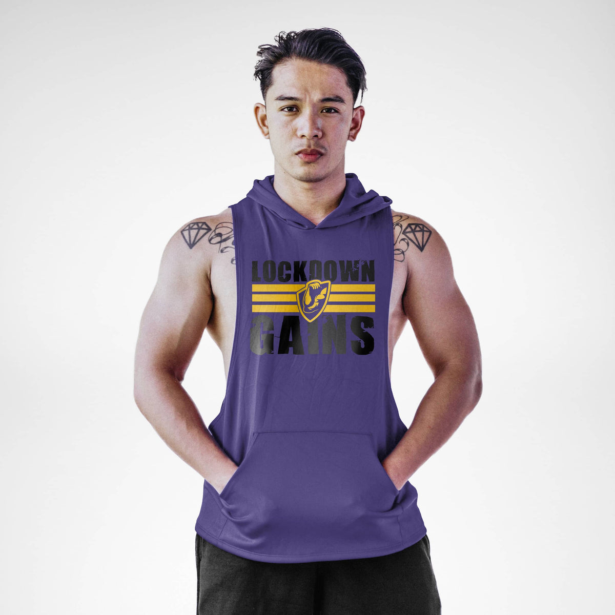 Lōckdown Gains Sleeveless Hoodie