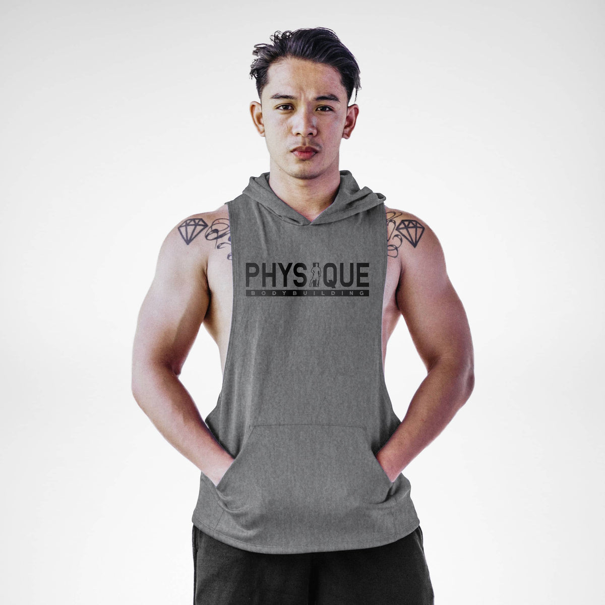Physique Bodybuilding Sleeveless Hoodie