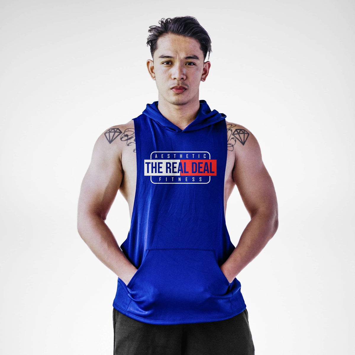 The Real Deal Aesthetic Fitness Sleeveless Hoodie