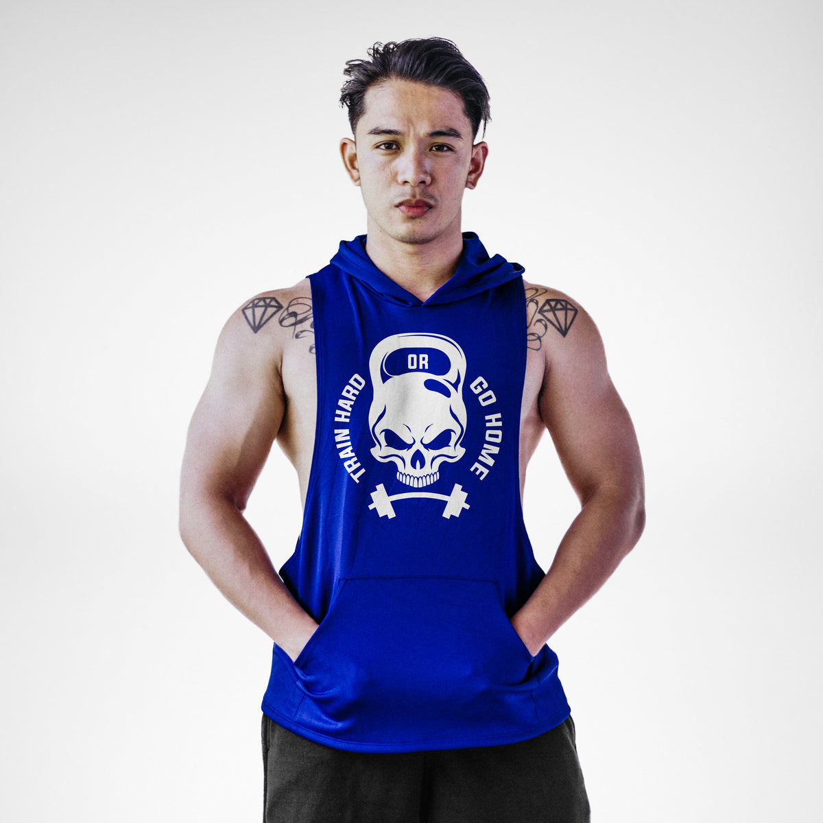 AH102 Train Hard or Go Home Sleeveless Hoodie