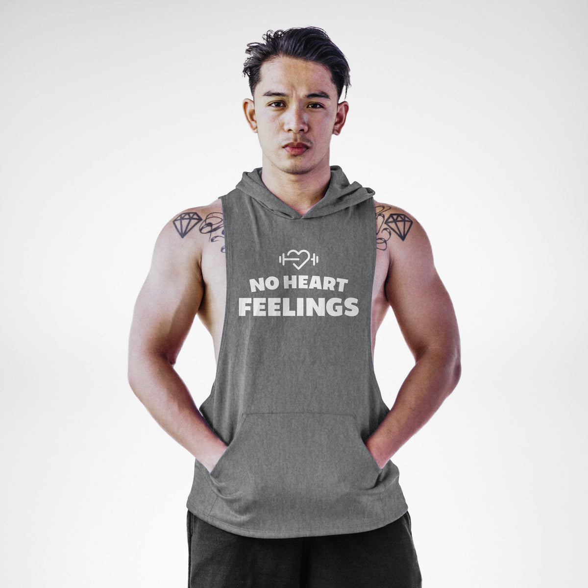 AH103 No Heart Feelings Sleeveless Hoodie