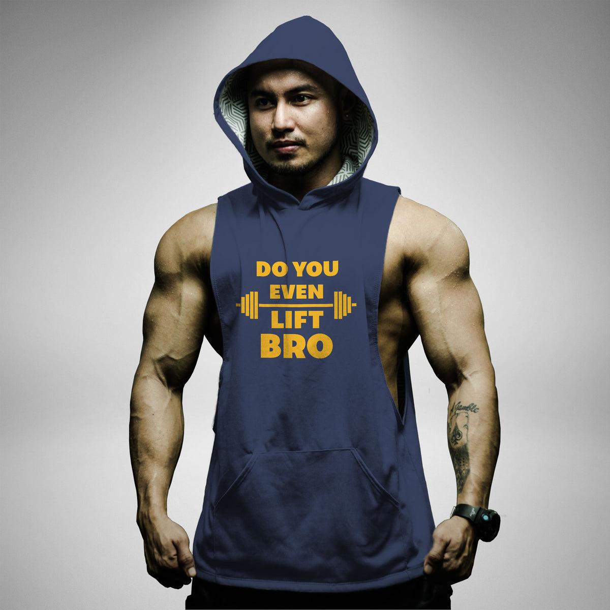AH118 Do You Even Lift Bro Sleeveless Hoodie