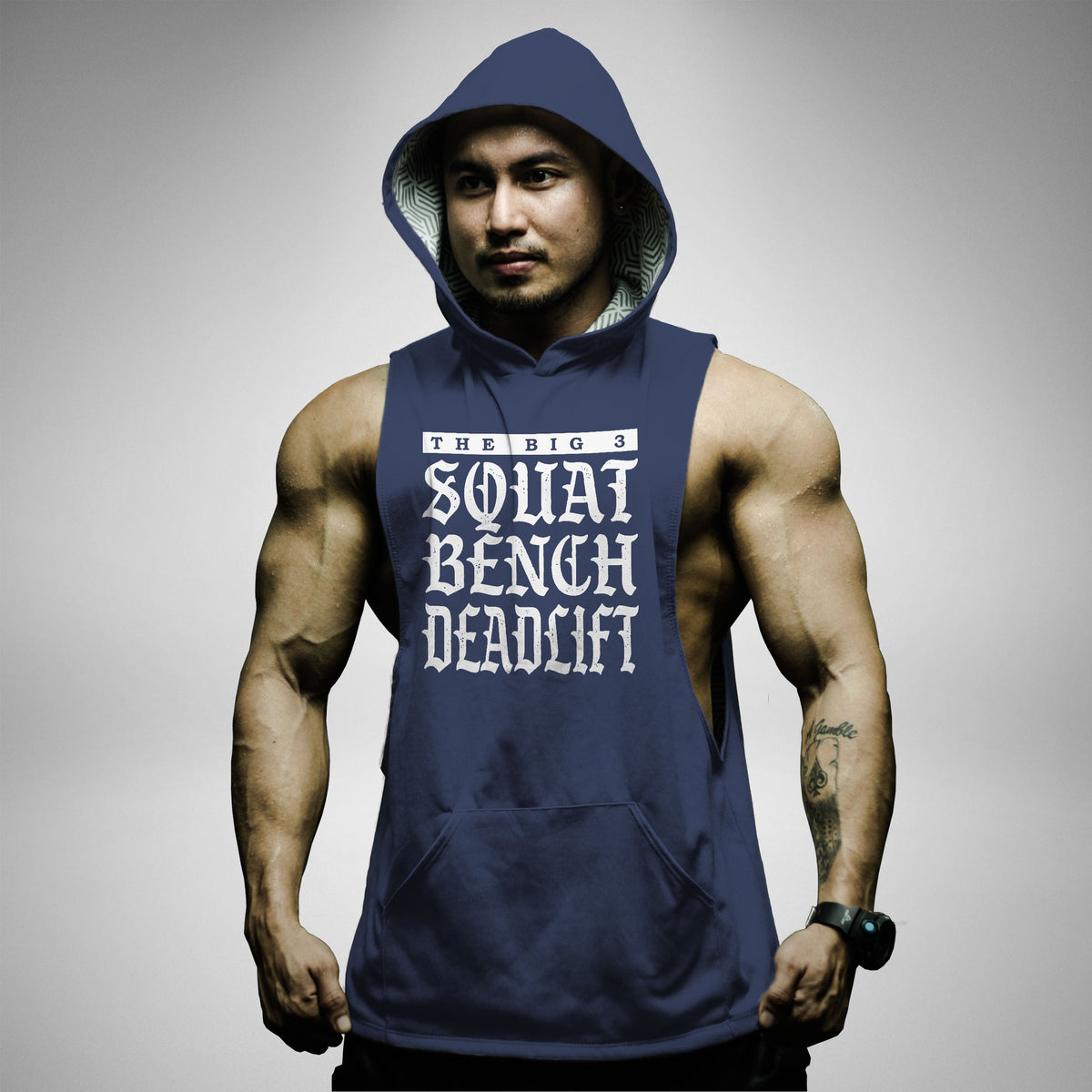 AH157 Squat Bench Deadlift Sleeveless Hoodie