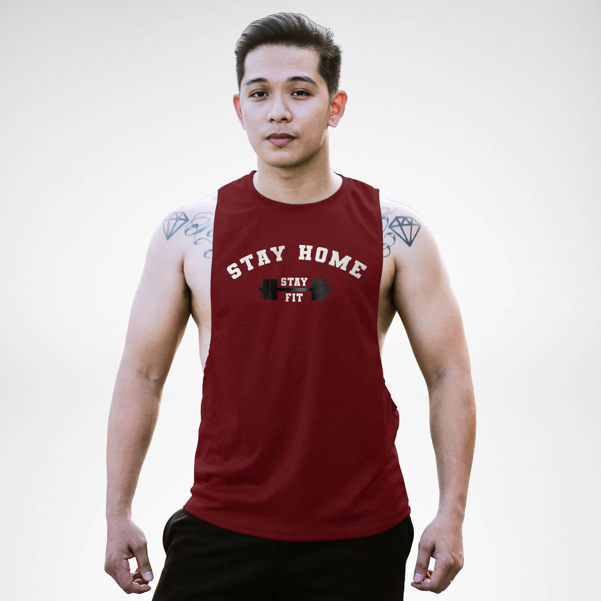 Stay Home Stay Fit Openside Tank Top