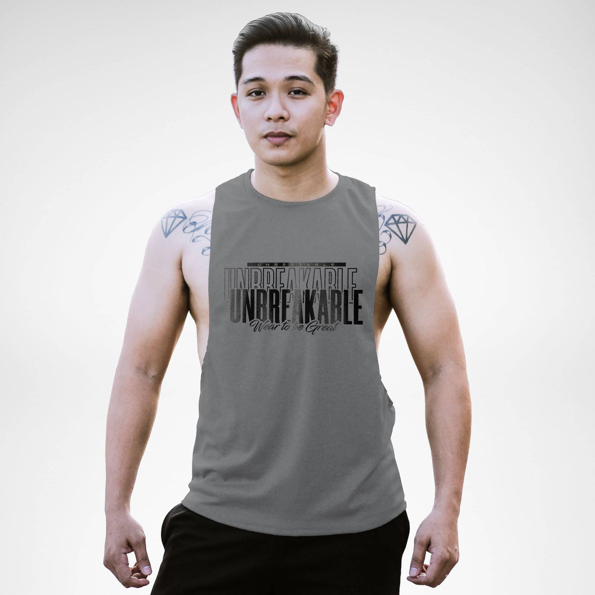Unbeatable Unbreakable Wear To Be Great Openside Tank Top