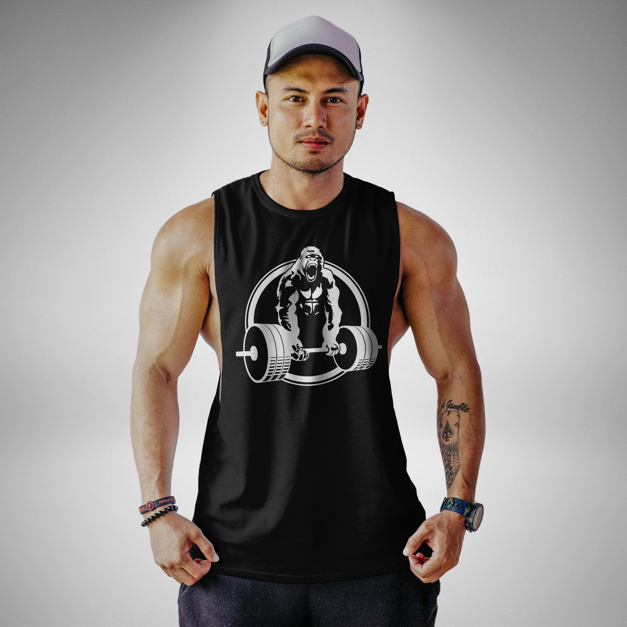 AM101 Gorilla Gym Openside Tank Top