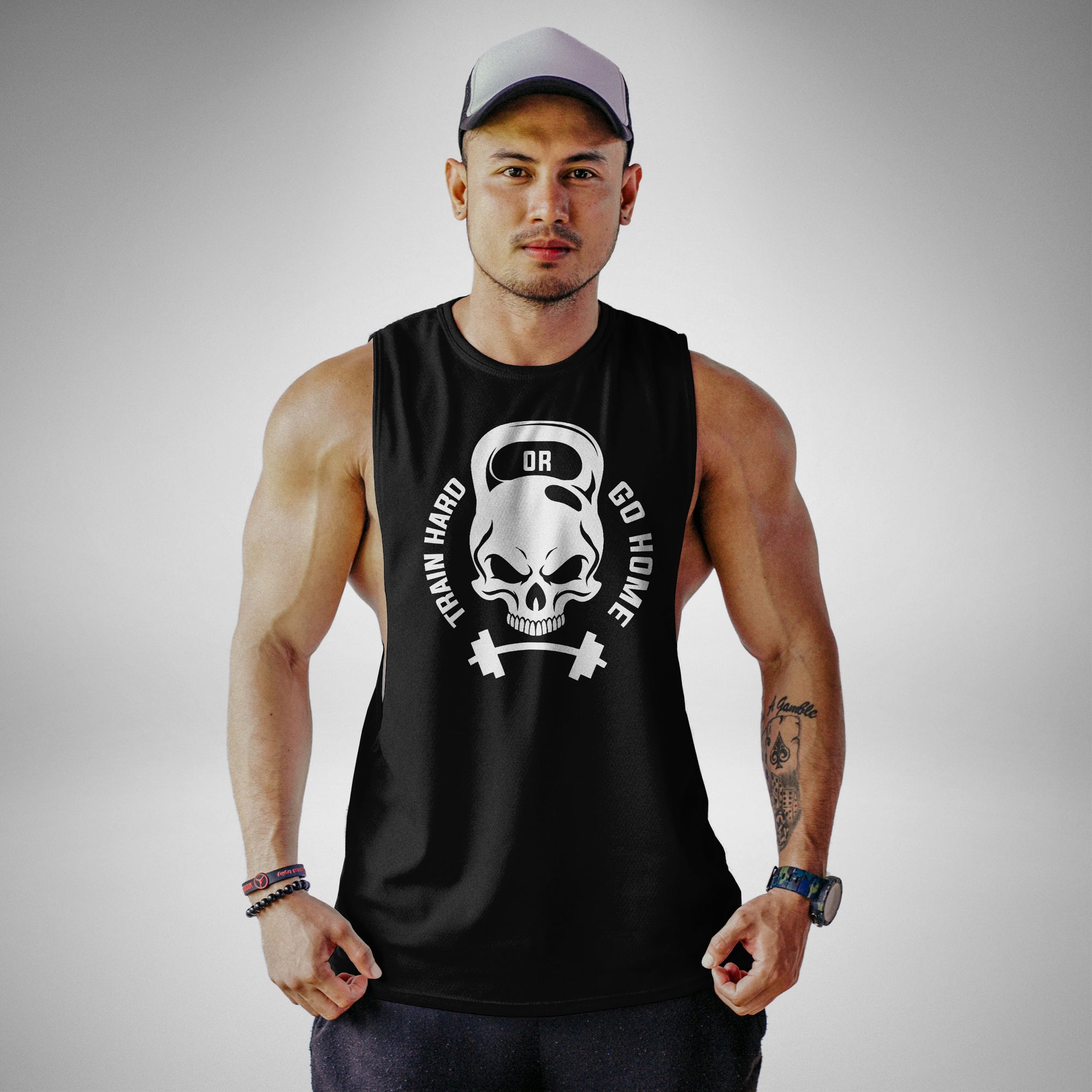 AM102 Train Hard Or Go Home Openside Tank Top