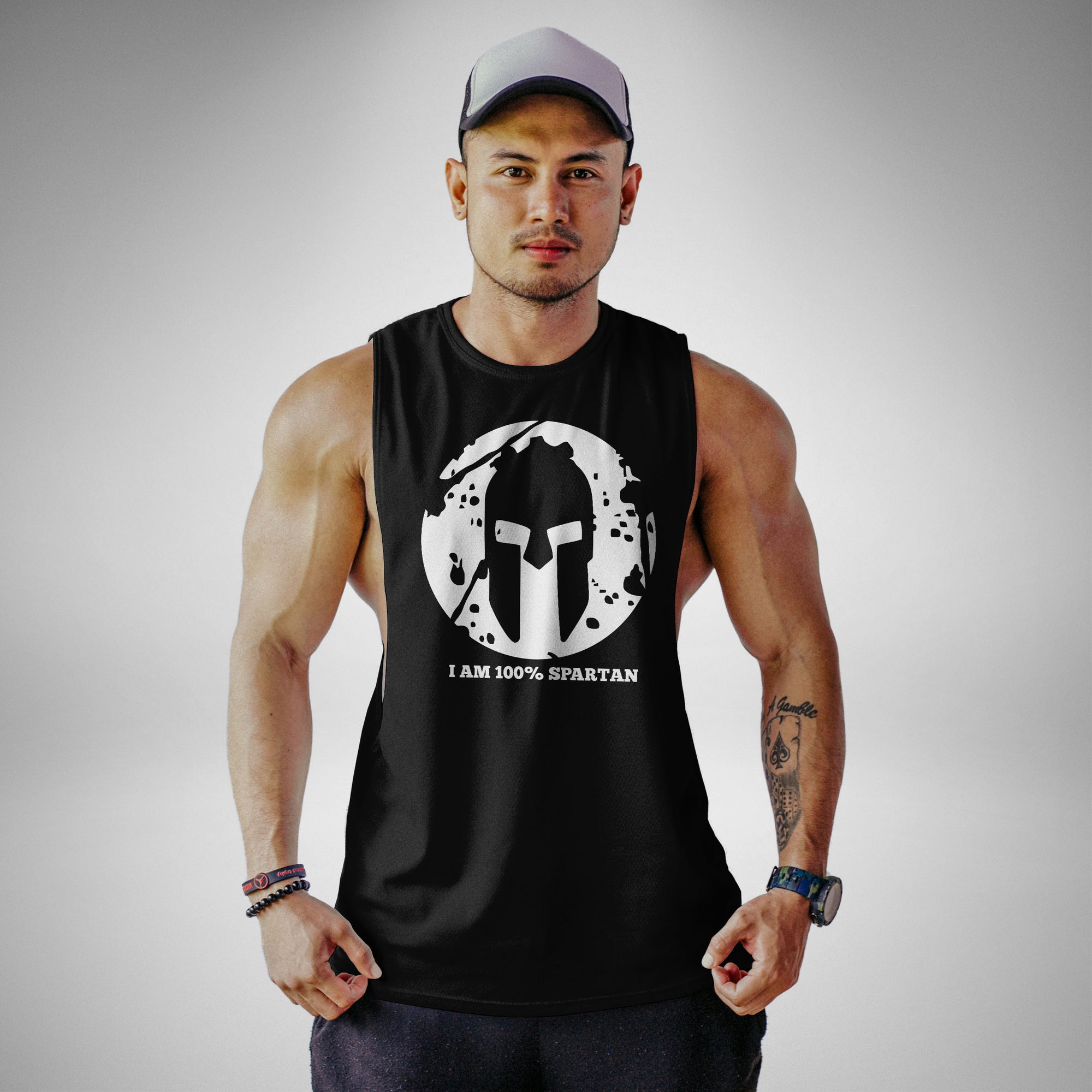 AM105 I Am 100% Sp@rt@n Openside Tank Top