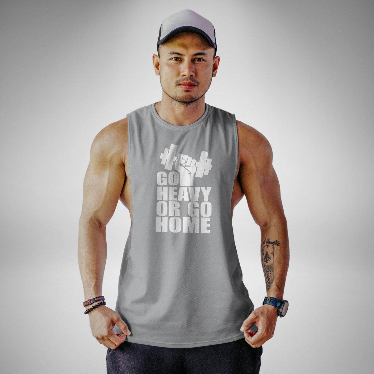 AM108 Go Heavy Or Go Home Openside Tank Top