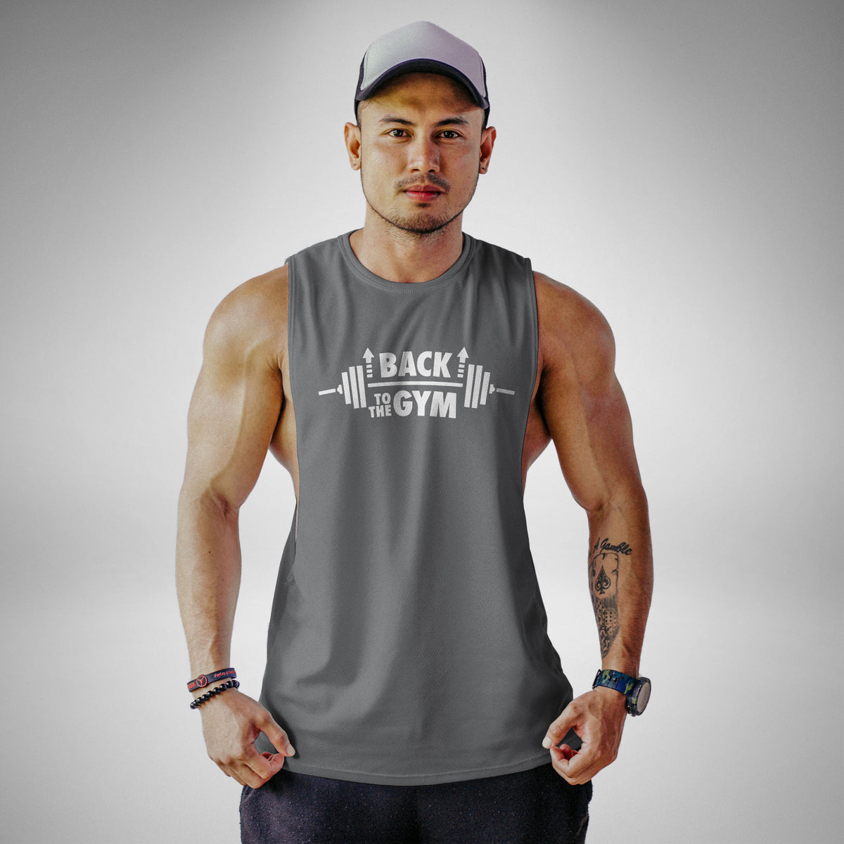AM113 Back To The Gym Openside Tank Top
