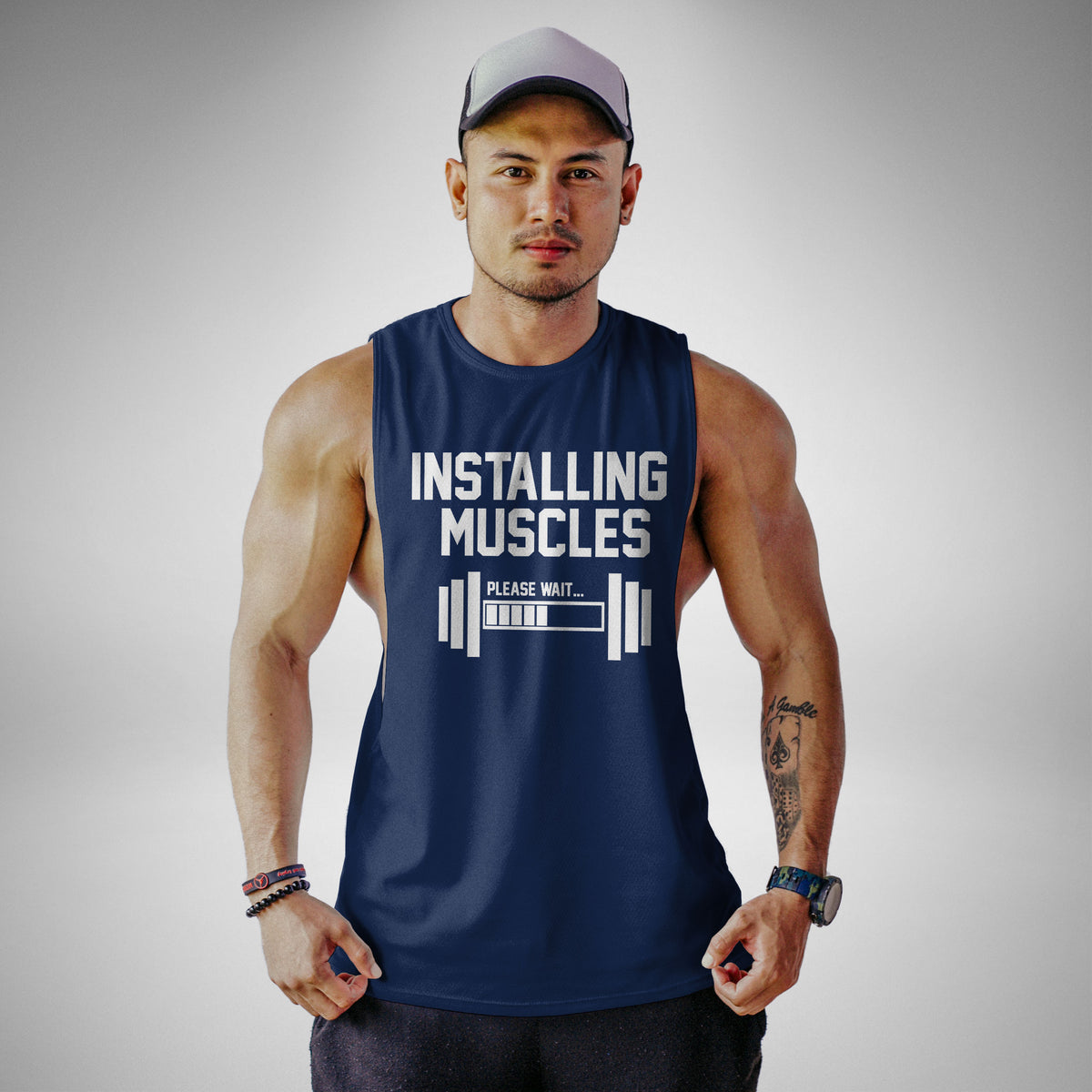 AM114 Installing Muscles Openside Tank Top