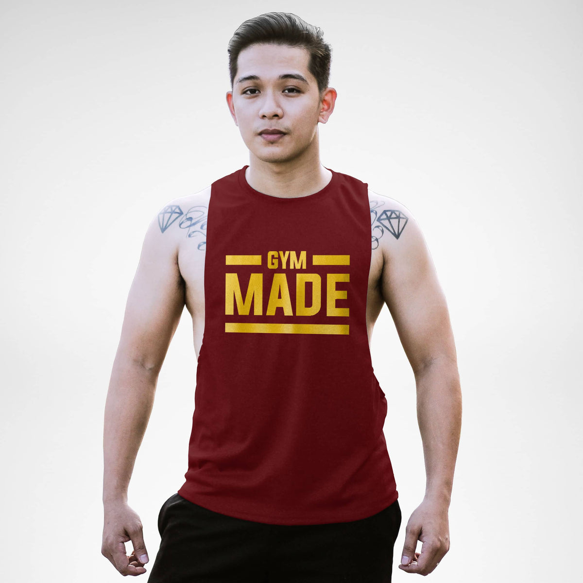 AM127 Gym Made Openside Tank Top