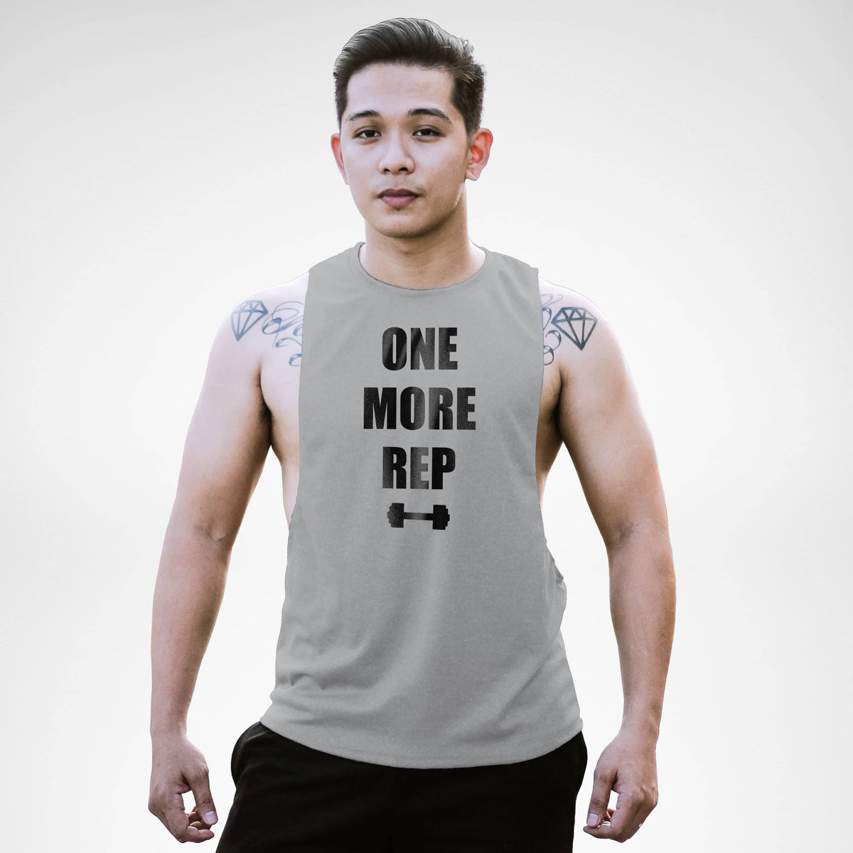 AM130 One More Rep Openside Tank Top