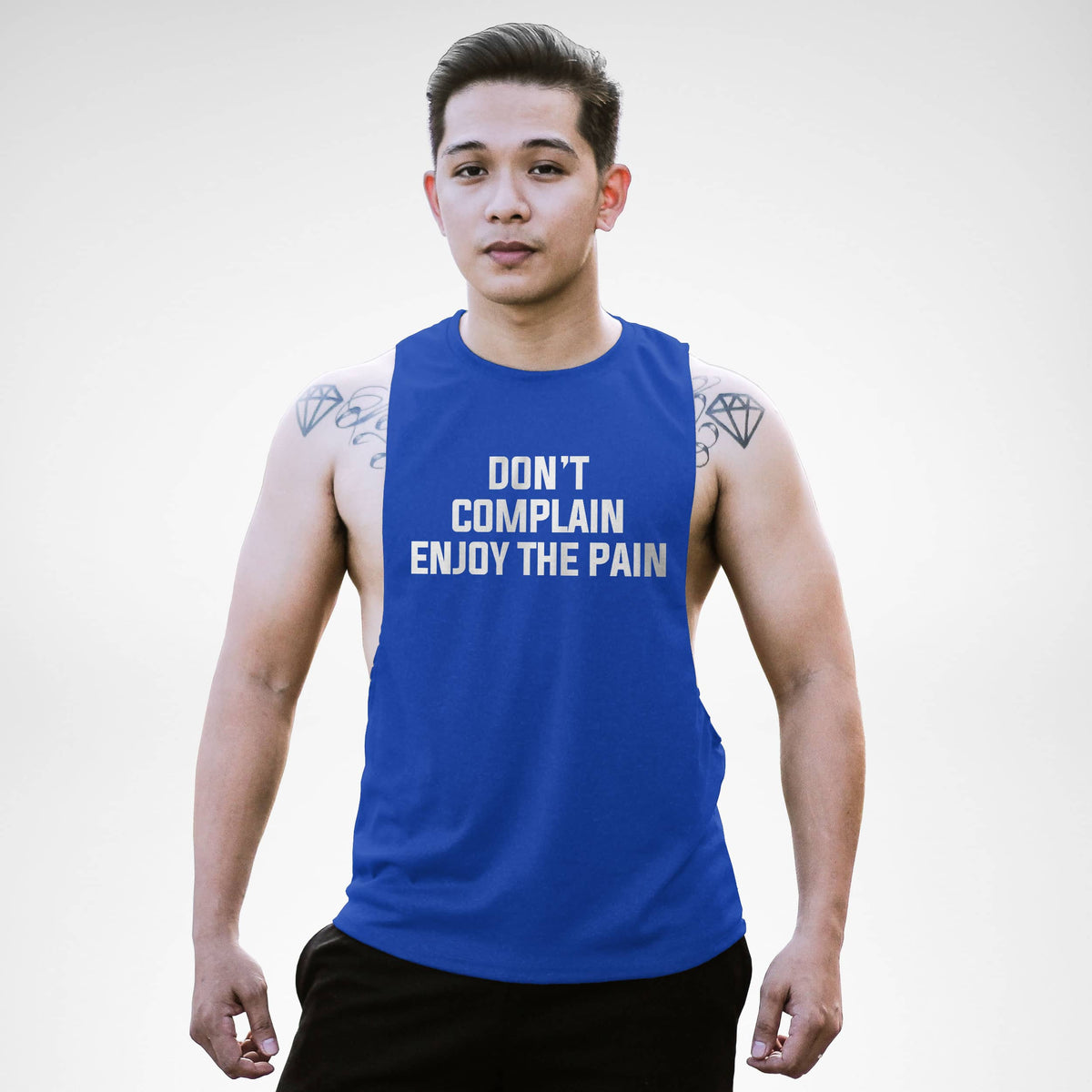 AM134 Don't Complain Enjoy The Pain Openside Tank Top