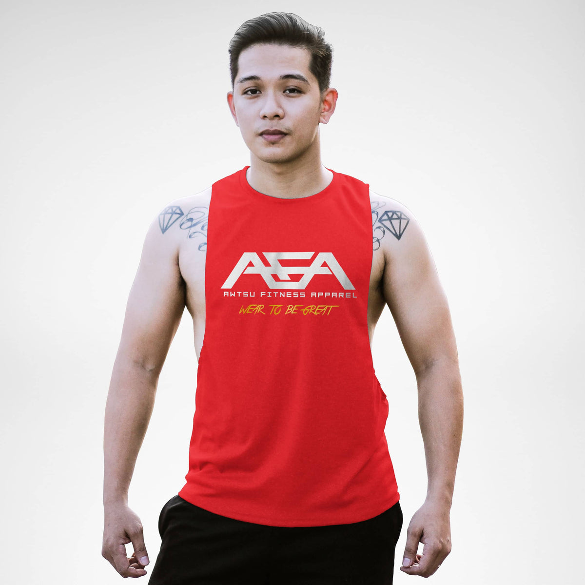 AM153 AFA Wear To Be Great Openside Tank Top