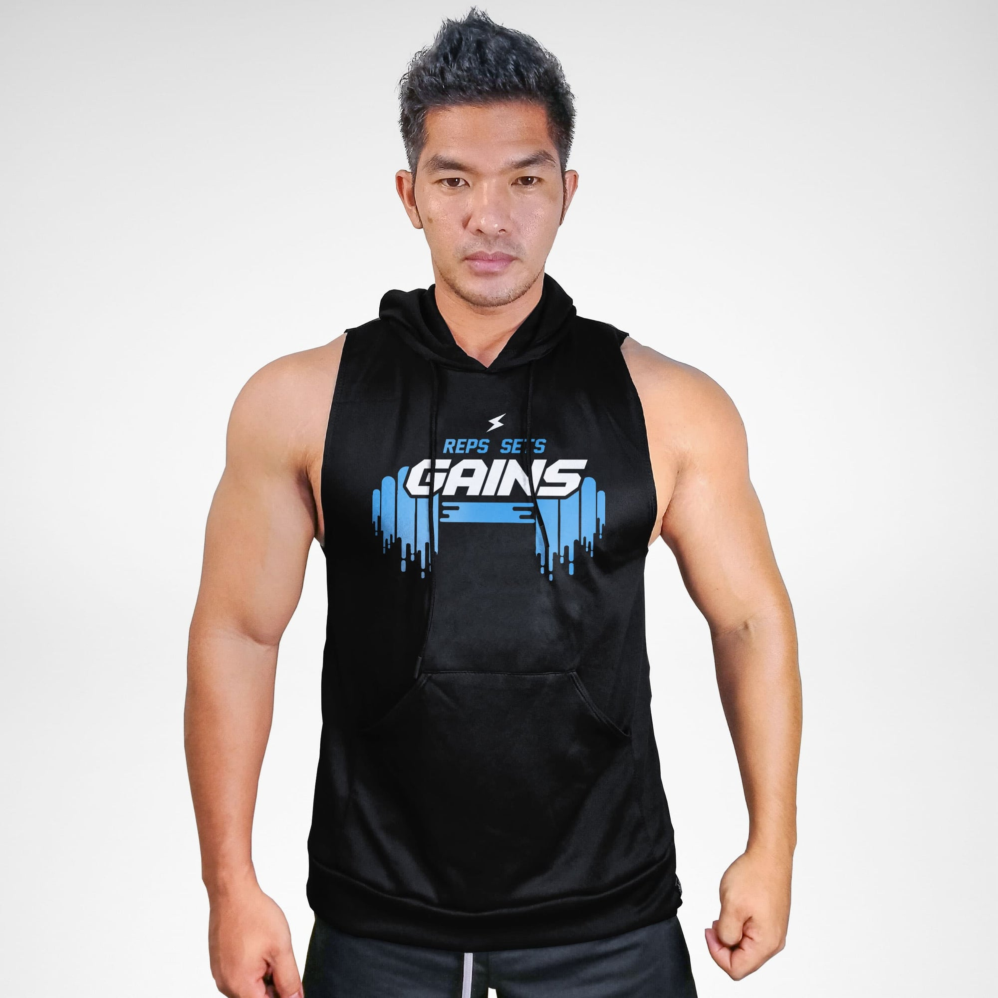 Reps Sets Gains Sweat Muscle Hoodie
