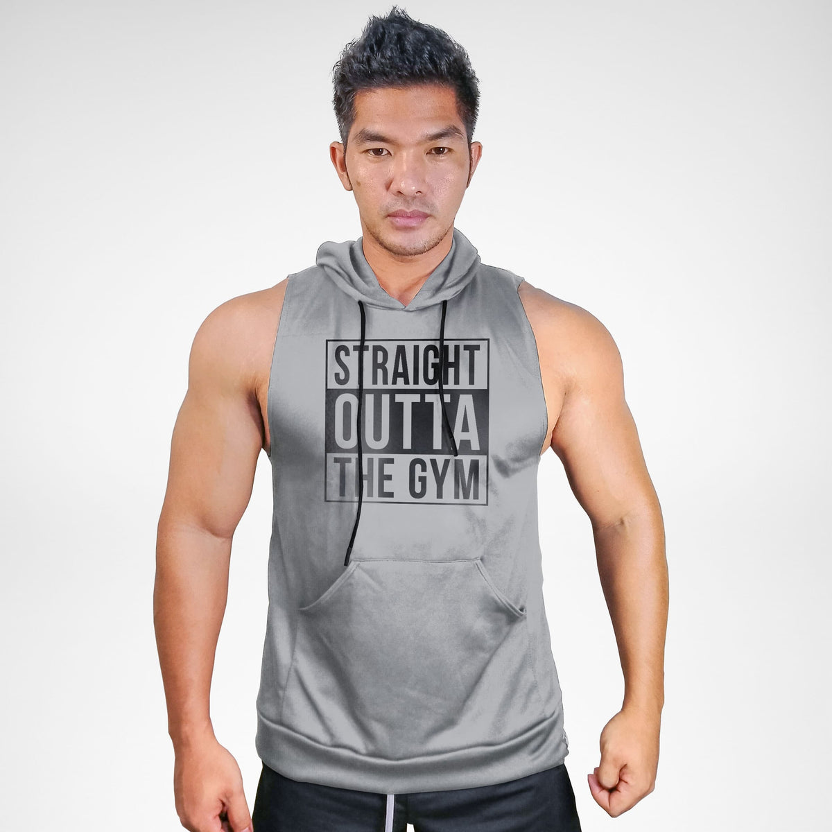 Straight Outta The Gym Sweat Muscle Hoodie