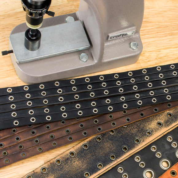 Eyelet Setting With 3960-00 Leather Hand Press